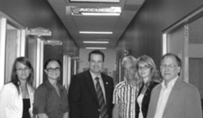 Fabien Hovington rencontre les employés du CLD de la ville de Saguenay