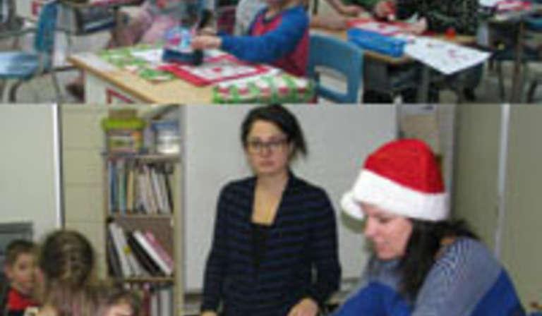 La fête de Noël à l'école Bois-Joli