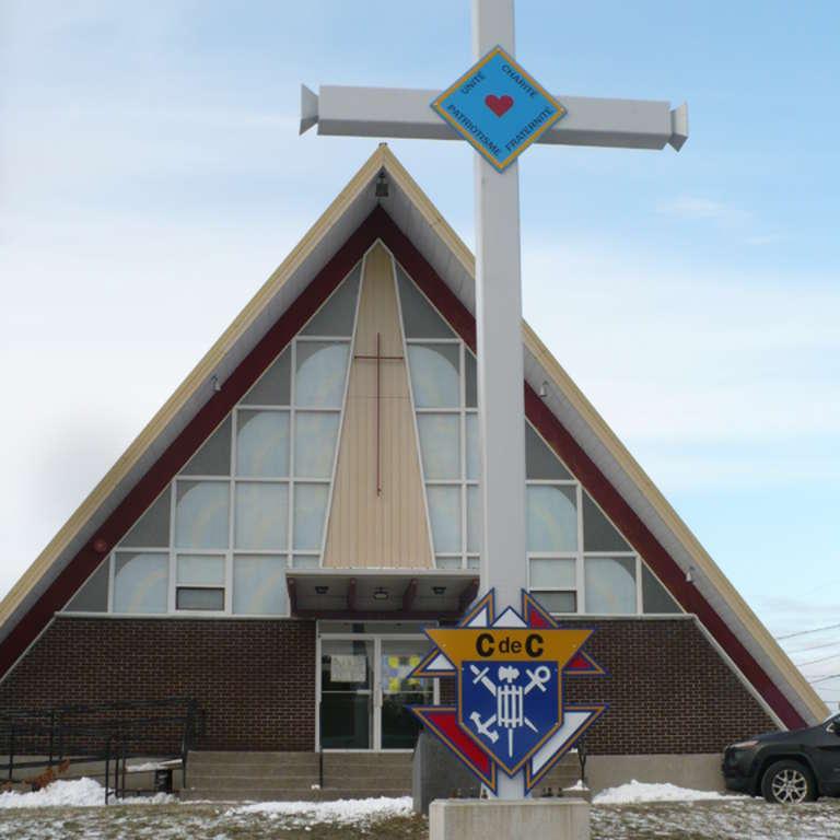 Bénédiction de la Croix des Chevaliers de Colomb