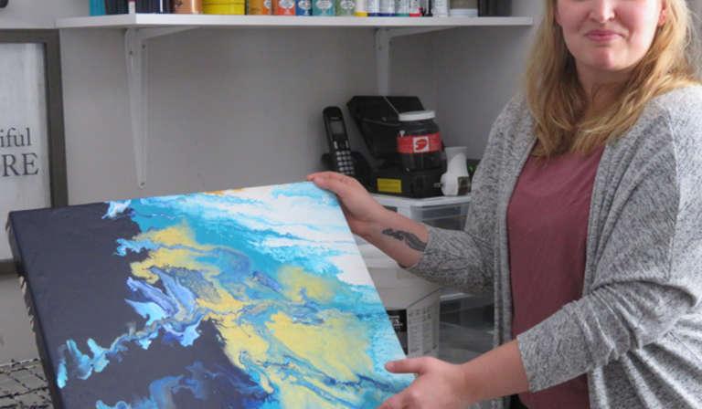 Andrée-Anne Fortin, Artiste peintre