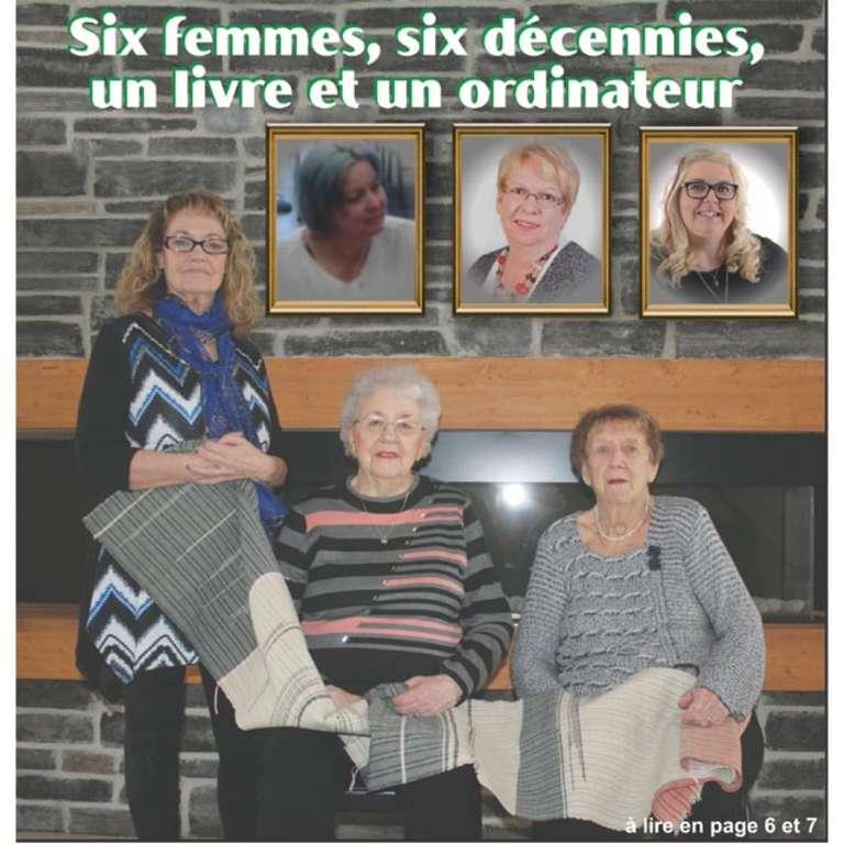 Six femmes,six décennies, un livre et un ordinateur