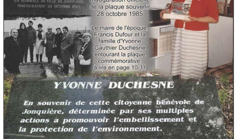En l'honneur d'Yvonne Gauthier Duchesne